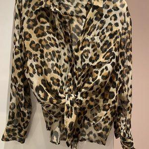 Equipment leopard blouse